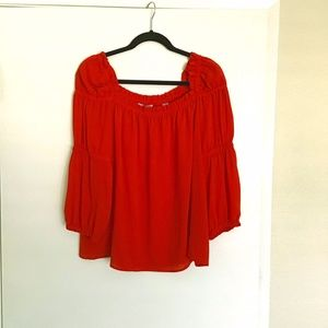 CeCe size medium blouse red